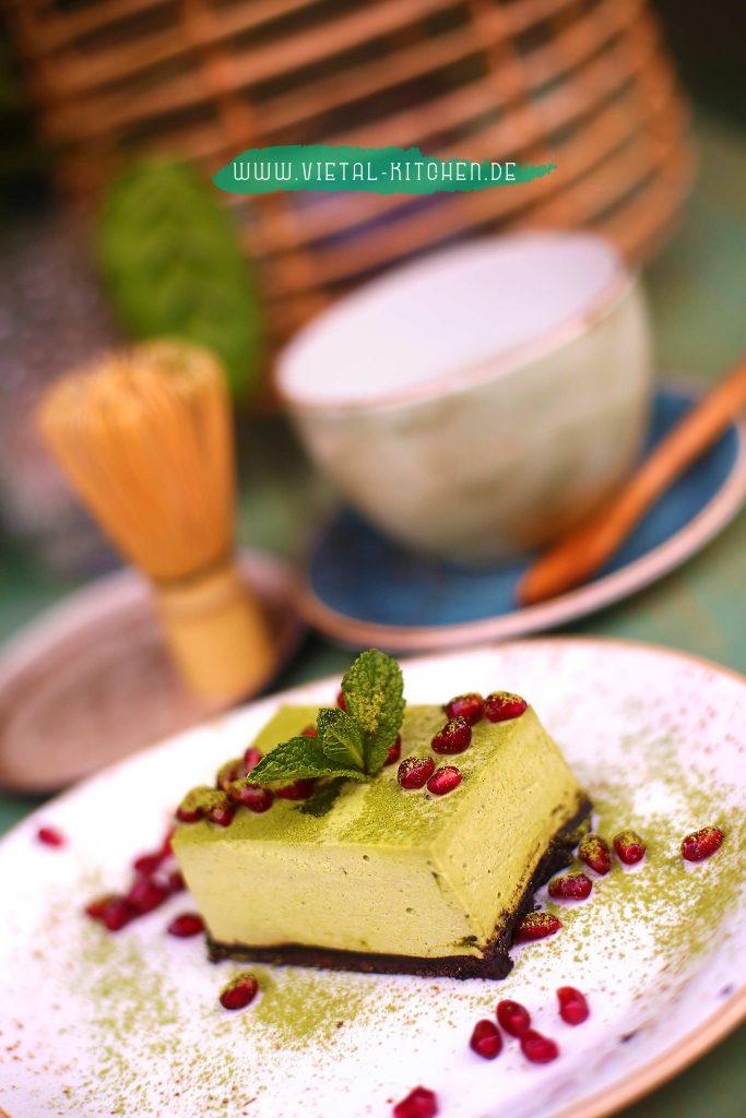 Matcha Käsekuchen als süße Alternative