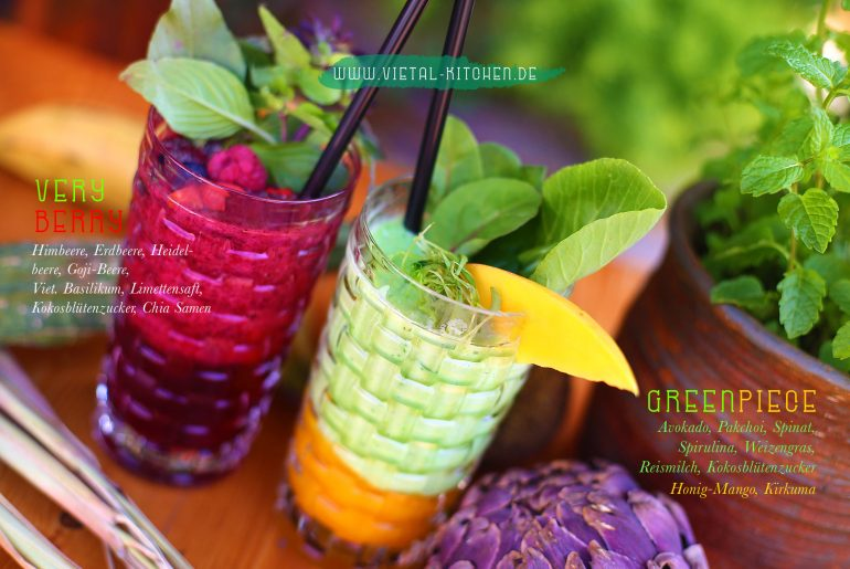 Vietale Brunch Smoothies: Very Berry und Greenpiece
